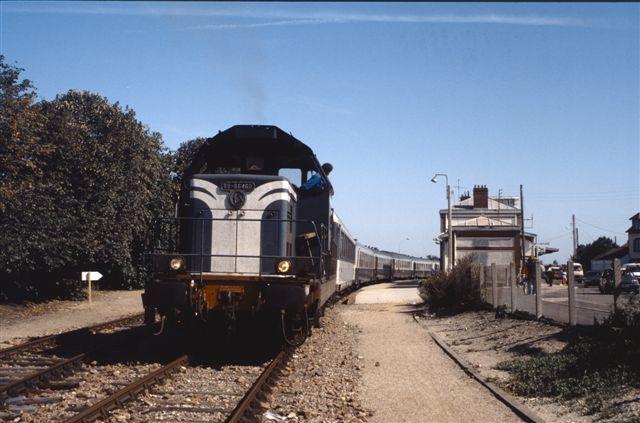 Photos du matériel diesel qui parcourait la ligne avant l'électrification