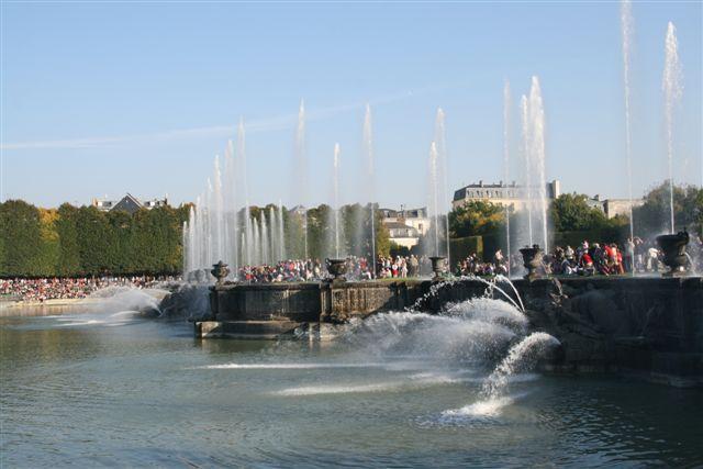 Photos des bassins et fontaines lors des grandes eaux à Versailles