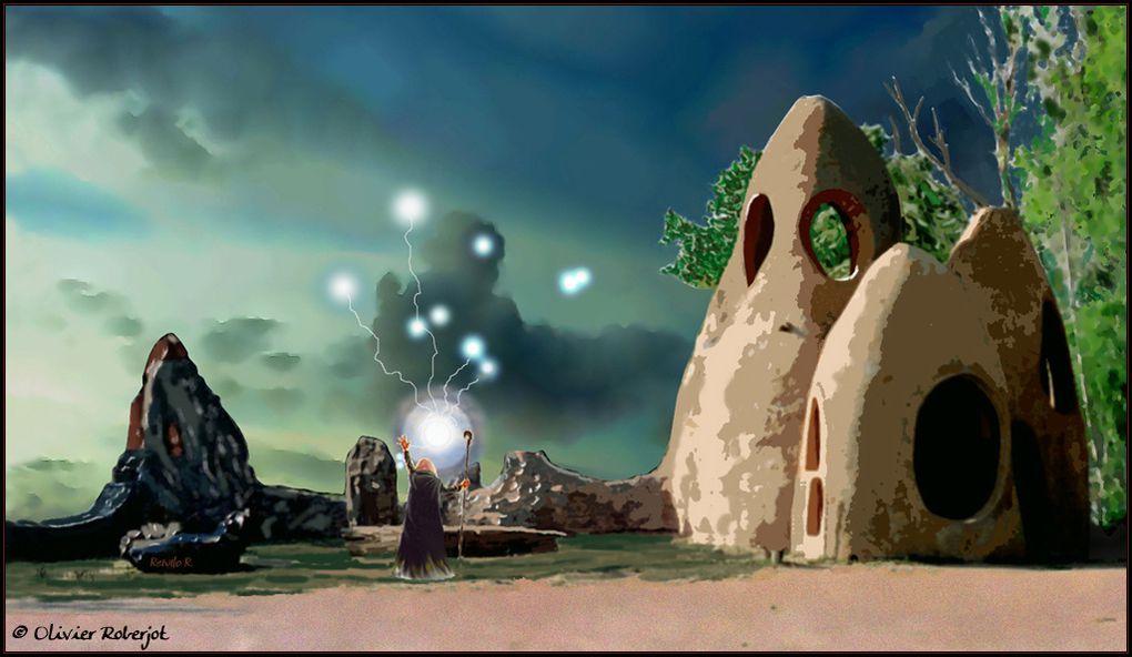 Quelques dessins, comme ça....Les images de synthèses ont été faites avec 3DSmax, Bryce et photoshop.