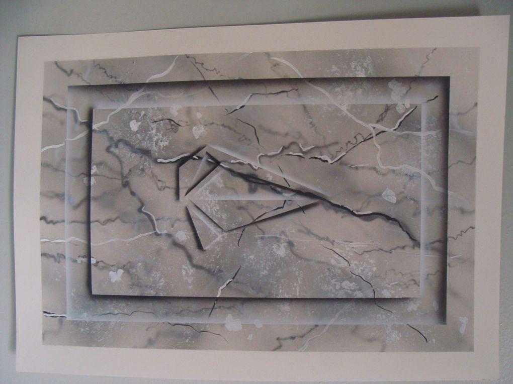 Imitation bois, marbre, rouille ... avec des techniques d'aérographie enseignées à l'école RBT Création.