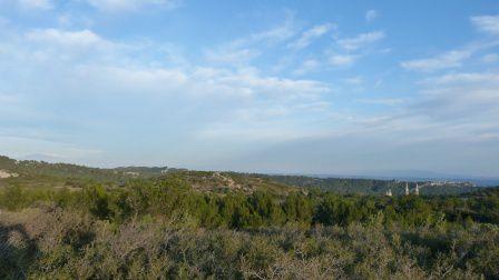 au départ de l'abbaye St Michel du Frigolet par Boulbon, le Mont San Salvador, randonnée du 6 janvier 2012
