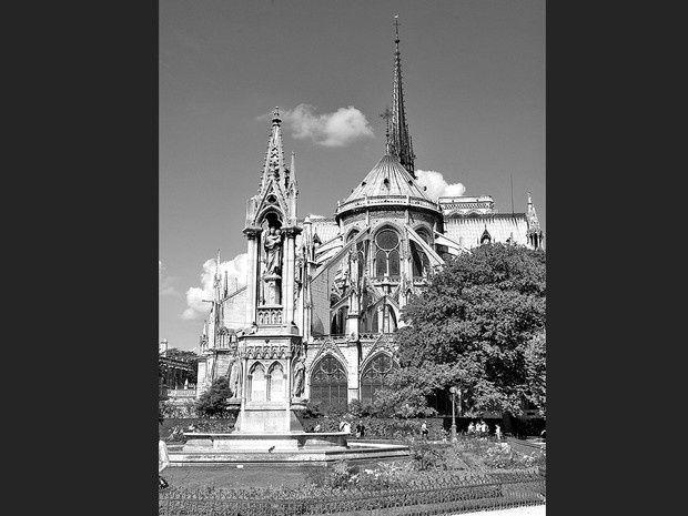 photos noir et blanc de paris