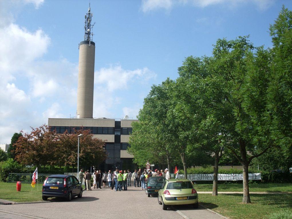 Les images de la grève du 22 Juin 2009 devant le bâtiment de Metz