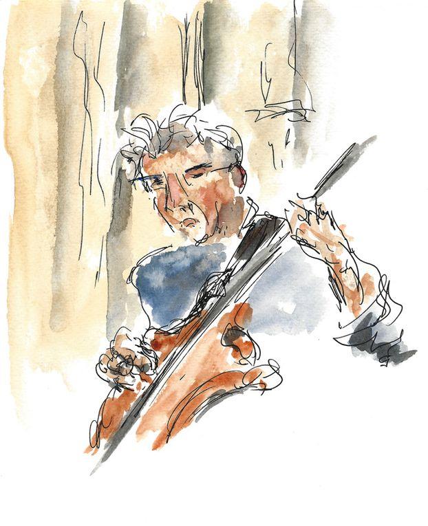 Chorale de Jaky, Fernande et boeuf au ParvisChartes