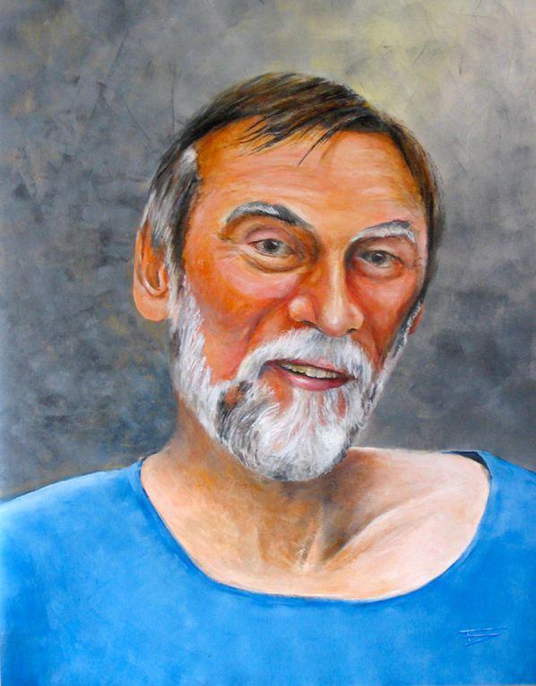 portrait sur toile d'après photo à l'acrylique étape par étape