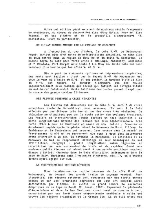 Chapitre 11 - Les marais maritimes du Nord-Ouest de Madagascar - pp. 369-406.