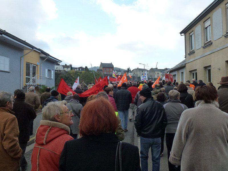 Manifestation contre austérité et en faveur d'Electrolux à Revin