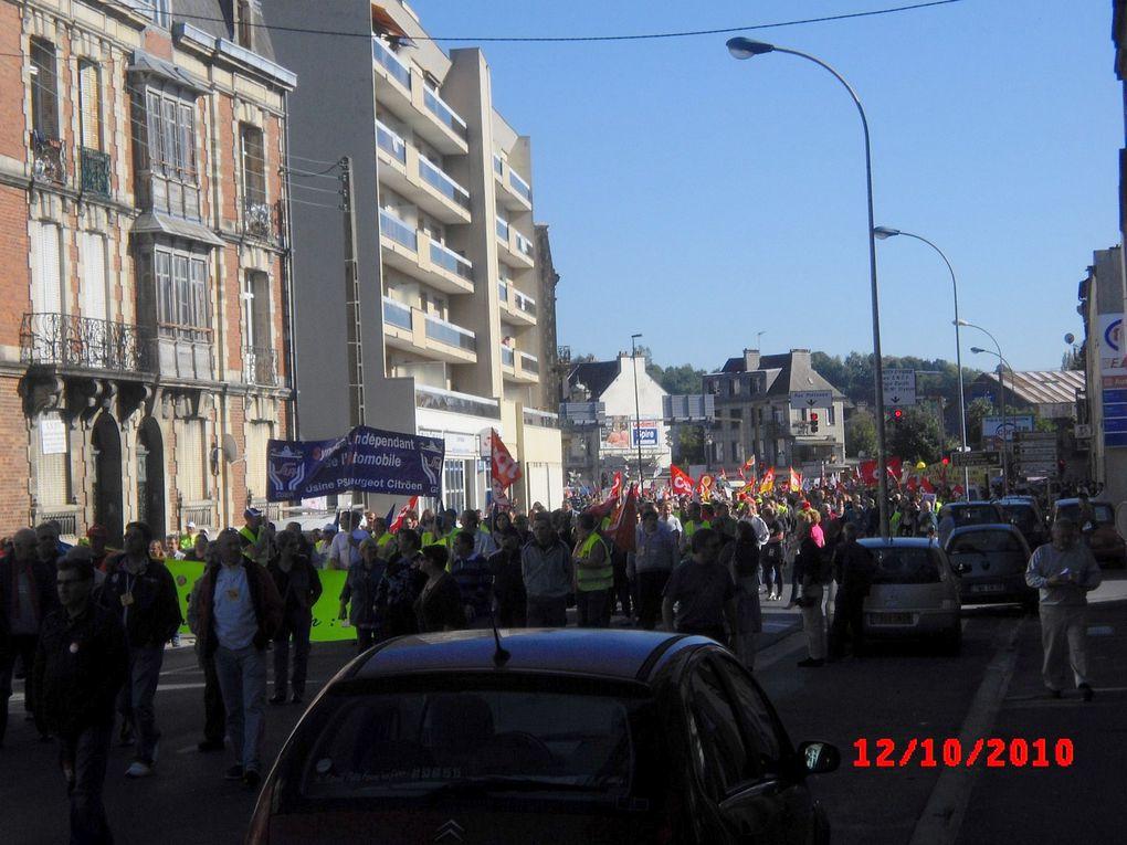 manifestation du 12 octobre par le syndicat CGT du Cosneil Général des Ardennes