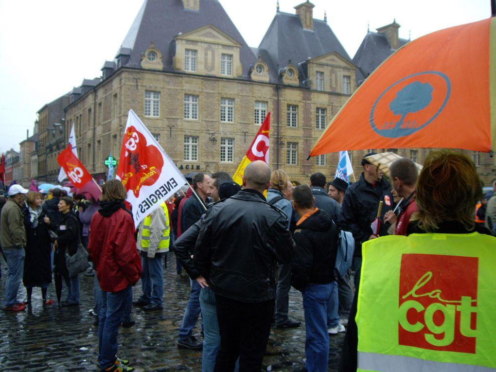 Manifestation à charleville contre les retraites le 02 octobre