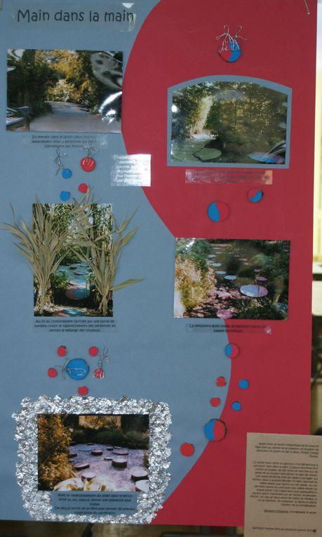 Ces illustrations sont celles d'un exercice demandé à nos BTS suite à la visite du festival des jardins de Chaumont sur Loire. Ils sont en binôme (A1+A2) et doivent réaliser le panneau d'un des jardins visités. Cela se fait en pluridisciplinari