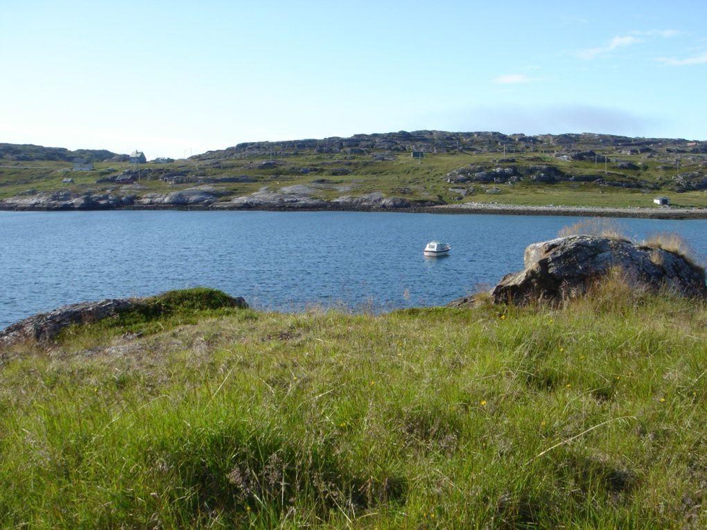 """Hammerfest, la ville la plus septentrionale au monde 70° 39' 48"""" N, 23° 48' E, et le meilleur port en eaux libres du nord de la Norvège"""