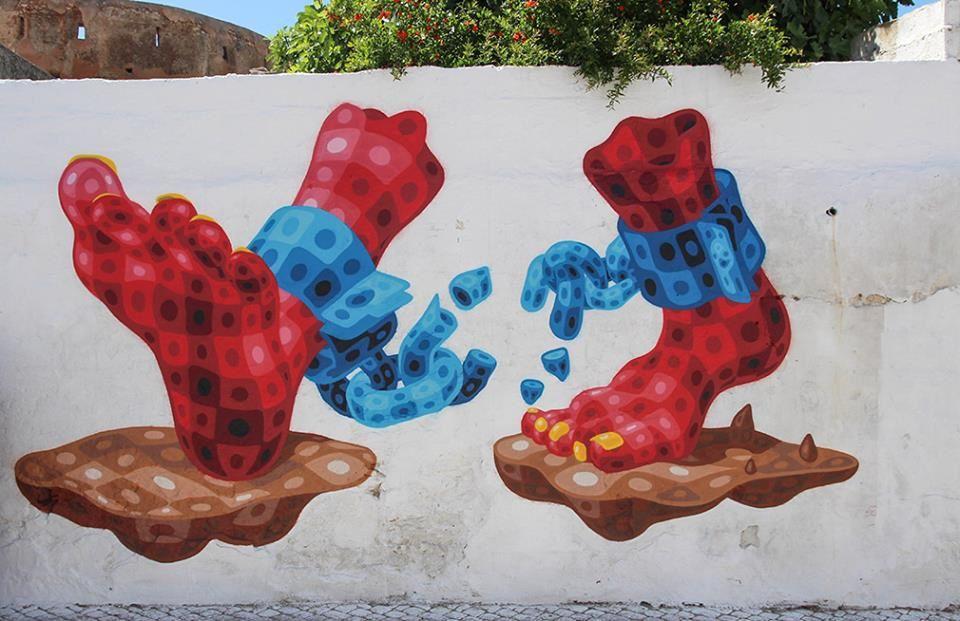 Quelques fresques du festival Remp'Arts d'Azemmour parmi un nombre impressionnant grâce à la générosité des artistes comme MORRAN, CEET, TATS CRU, KOUKA, TOAST, MIZER, EL DECERTOR...