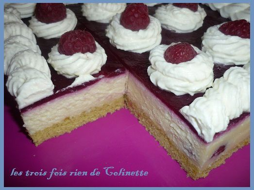 tarte au chocolat blanc,cerises et mascarpone