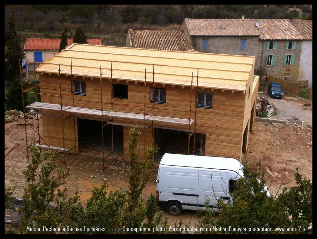 Extension en ossature bois, réalisation 2010-2011. Conception Alexis Bogdanovitch