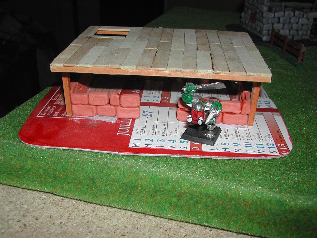 Chateau, maisons, fermes et autres décors pour Mordheim