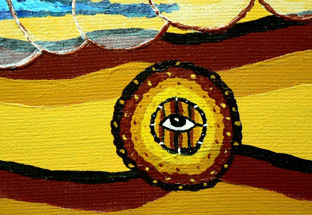 En 1997 comencé a pintar todas las canciones Victor Jara que más me gustan, y en este camino de colores inicie un dialogo imaginario con él. He aqui algunas de estas canciones.