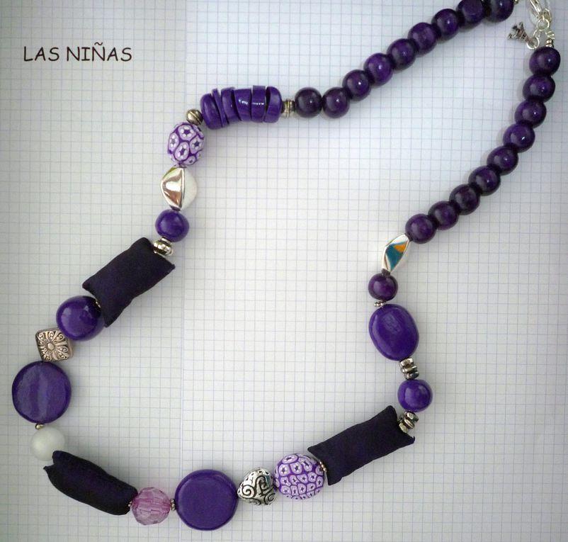 Sautoirs long de 90 cm environ selon les modèles,les coussins mesurent 3 X 5 cm. Ces sautoirs sont composés selon le modèle de perles en pâte polymère, uniques faites main, perles métal, perles polyester et perles bois.