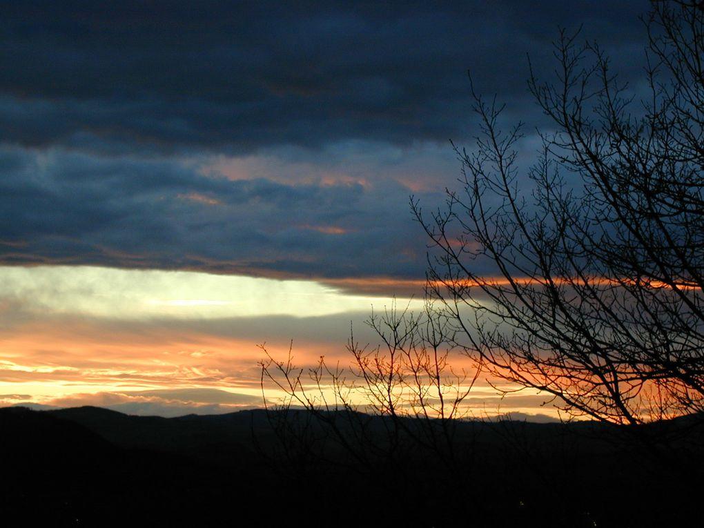 Photos de couchers de soleil.