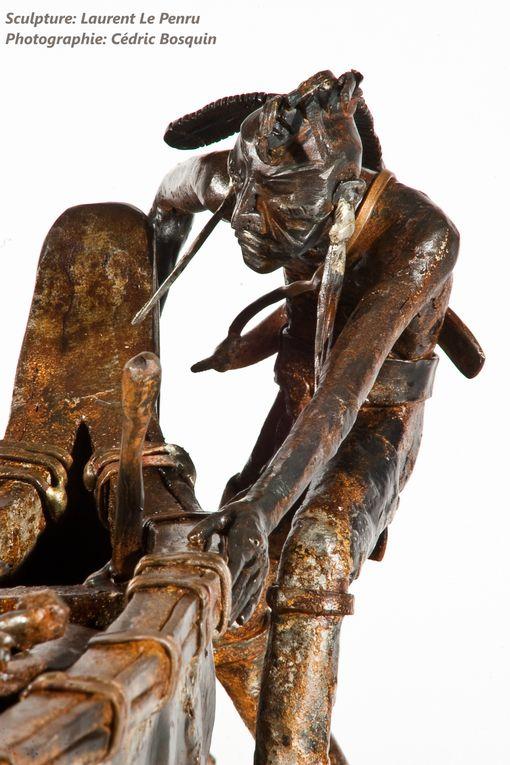"""Acier  420*620*180mm 45kg2010-""""3 Caillasses""""Auteur:CromwellSculpteur-ferronnier:Lo*Photographe:Cédric Bosquin"""