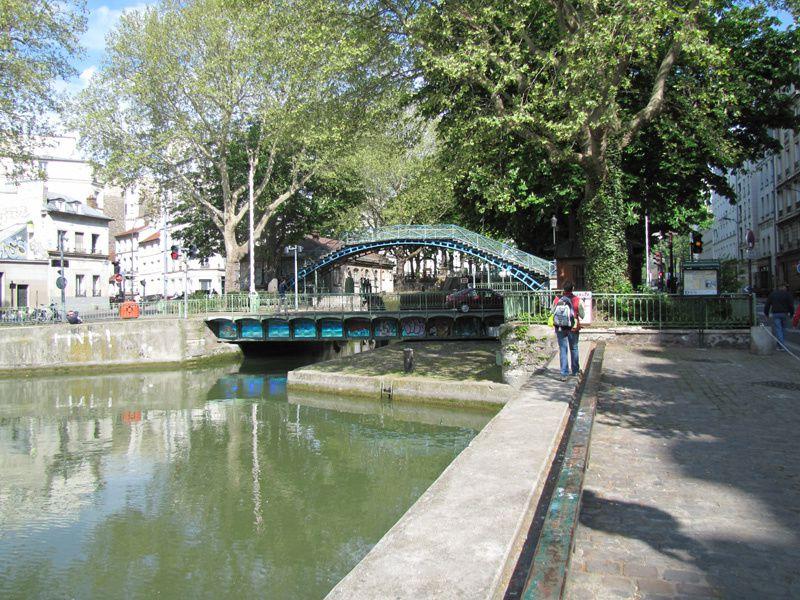 Balade le long du canal Saint Martin, les Buttes Chaumont, la Vilette et Belleville.