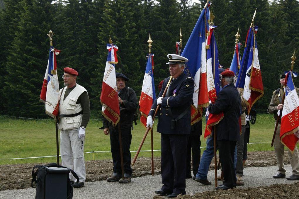 Visite au Plateau des Gliéres,haut lieu de la résistance.