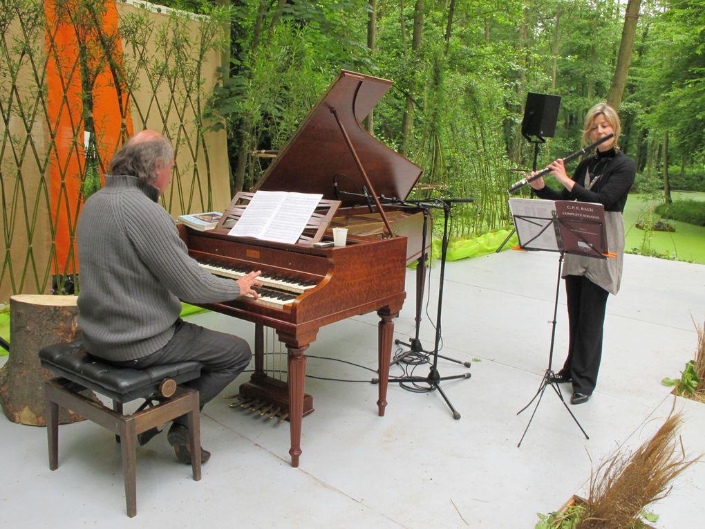 Atelier clavecin Patrick Scheyder, flûte Cécile Chamorin de 11h à 11h30.
