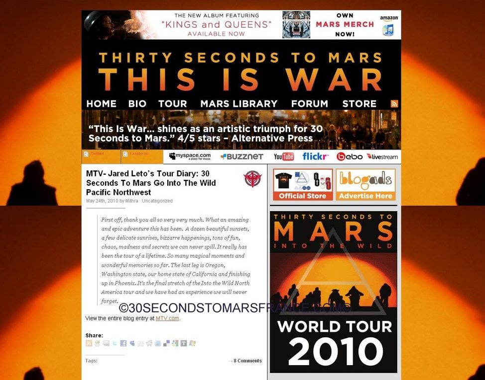 Album - 30 SECONDS TO MARS - LE QUATRIEME SITE OFFICIEL