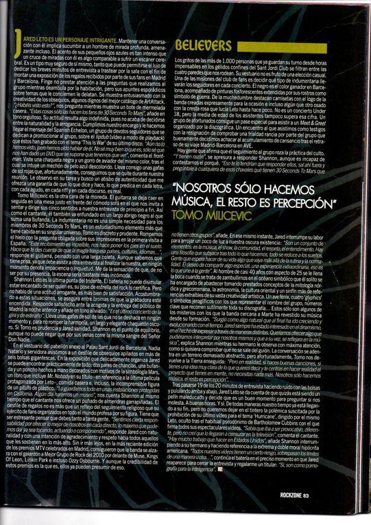 Album - Rockzone spain janvier 2011