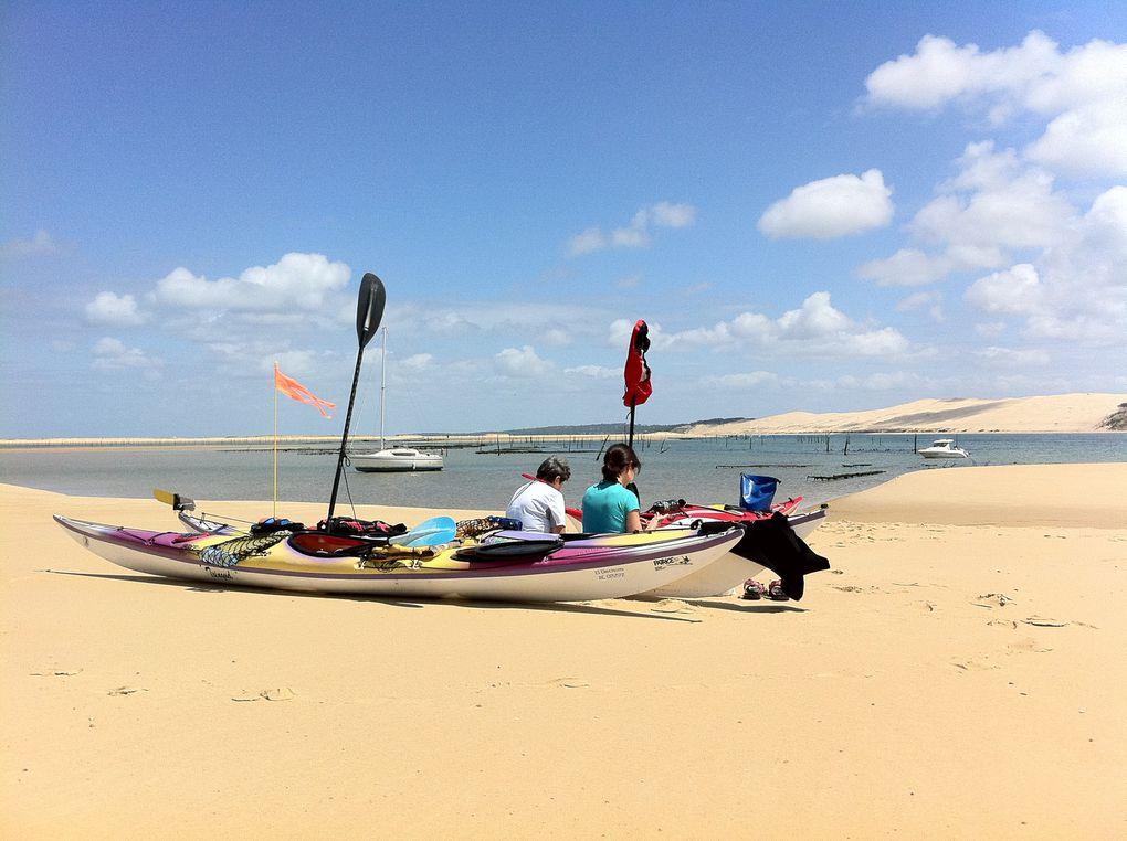 Sortie en kayak de mer au banc d'Arguin