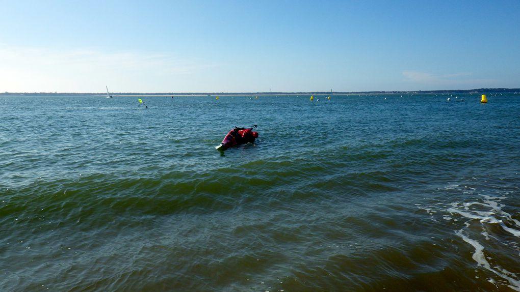 Navigation avec pique-nique à Arguin Sud.Photos : Cathy, Domi, Catherine B., Carine D., André
