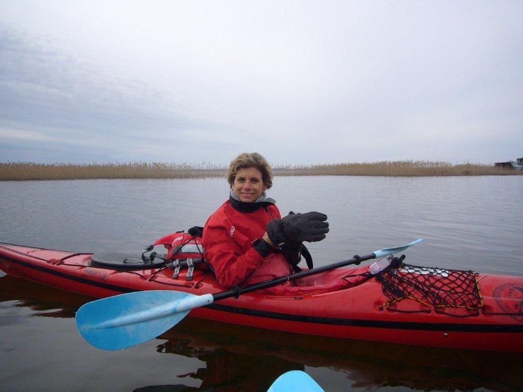 """Sortie kayak du lundi 8 février 2010.Navigation vers """"Bora Bora et visite de La Gourgue""""Première sortie de Nicole."""
