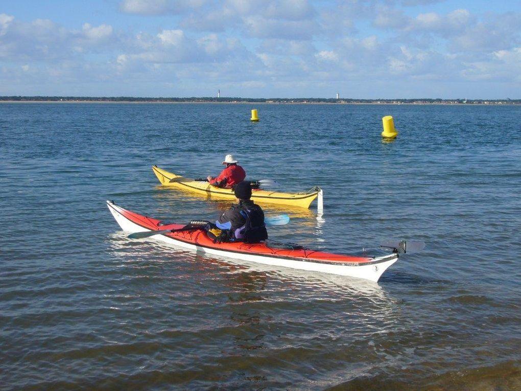 Première sortie en kayak de l'année 2010.Dominique et Jean