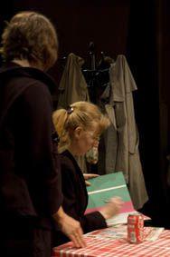 """Répétition générale de """"L'Instant"""", pièce de Jean-Marie Piemme, juin 2009.Photos : Thibaud Chemin"""