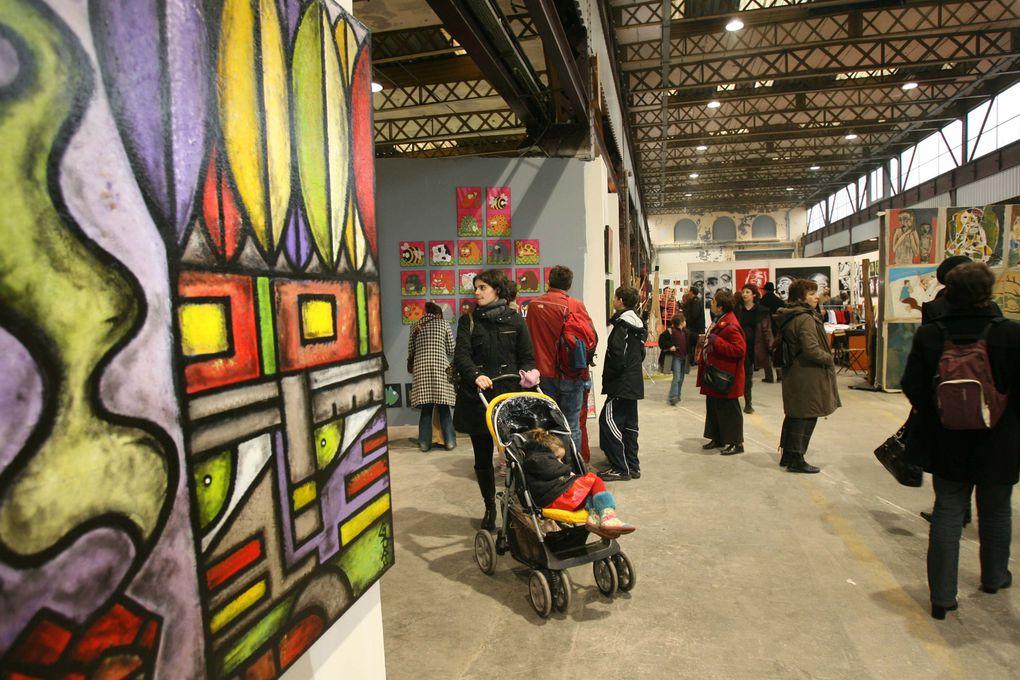 Édition 2006 du P'tit Baz'Art, Marché de Noël d'objets d'artistes à Nancy.