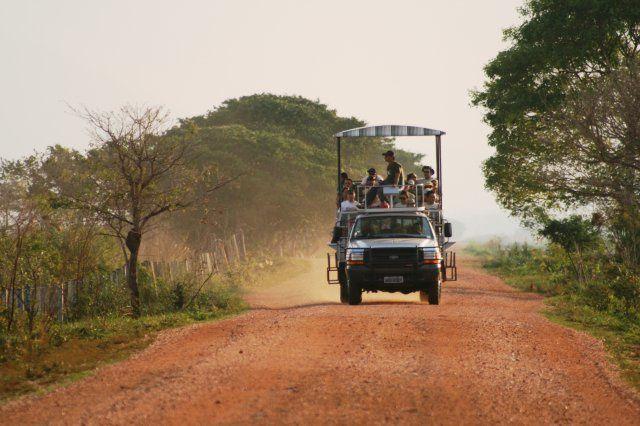 Proche de Miranda, l'exploitation agricole vous offre des options de promenades en connaissant les beautés scéniques du Pantanal ! Vous  pourrez vous loger « Pouso boiadeiro » dans des appartements avec air conditionné, frigidaire, ventilateur de plafond et w.c privatif. Vous aurez des options de promenades safari  photographiques  dans voiture ouverte dans les bois et les champs de riz irrigué, promenade de chalana dans le Corixo Sain Domingos avec pêche de piranhas, canoagem et de cavalcades. La nuit, l'aventure continue avec photos nocturnes dans véhicule spécial, photos nocturnes  sur le fleuve ou un barbecue dans le Mont du Corixo avec des histoires pantaneiras. A la ferme sont réalisés des projets scientifiques de conservation d'espèces menacées d'extinction comme l'Once Peinte, Jaguatirica et la belle A labouré Bleu. Cette exploitation intègre aux activités productives l'agro-ecoturisme, en vous proposant au touriste de découvrir une visite et une expérience de développement de tourisme écologique.