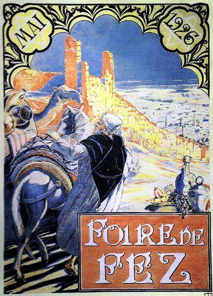 Cartes graphiques et autres documents sur la ville de Fès et ses régions.