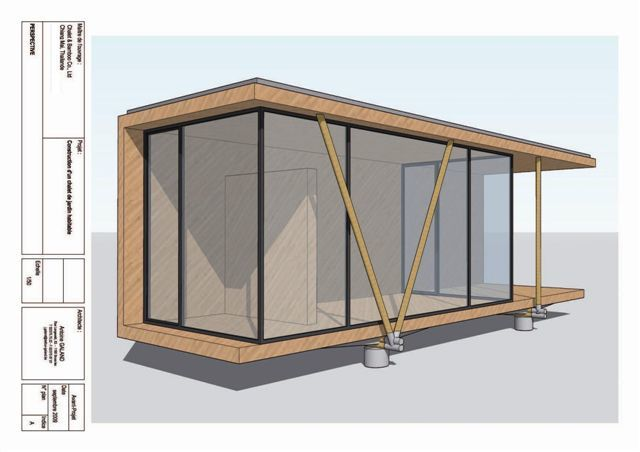 CABINS To be made in 20 and 35 sq meter.Laminated Bamboo - Bamboo beams and colomns - Glass (double  and/or triple  Glazing) and possibility of bullet proof.
