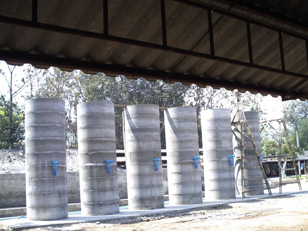 So the Mixing Tanks - bassins and rails are there.