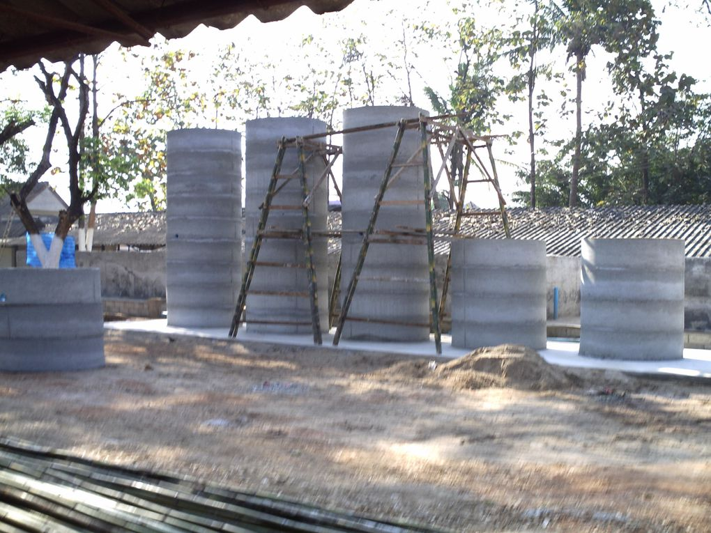 3 Mixing Water Tanks are erected. @ not finished yet.