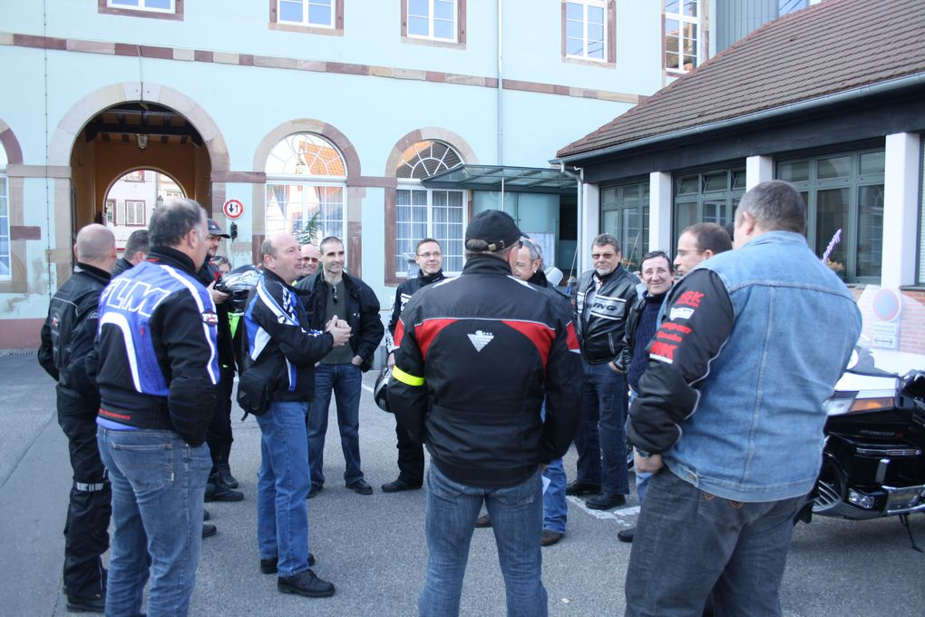 2° Randonnée Internationale de Rétro Moto à Molsheim le 25 avril 2010