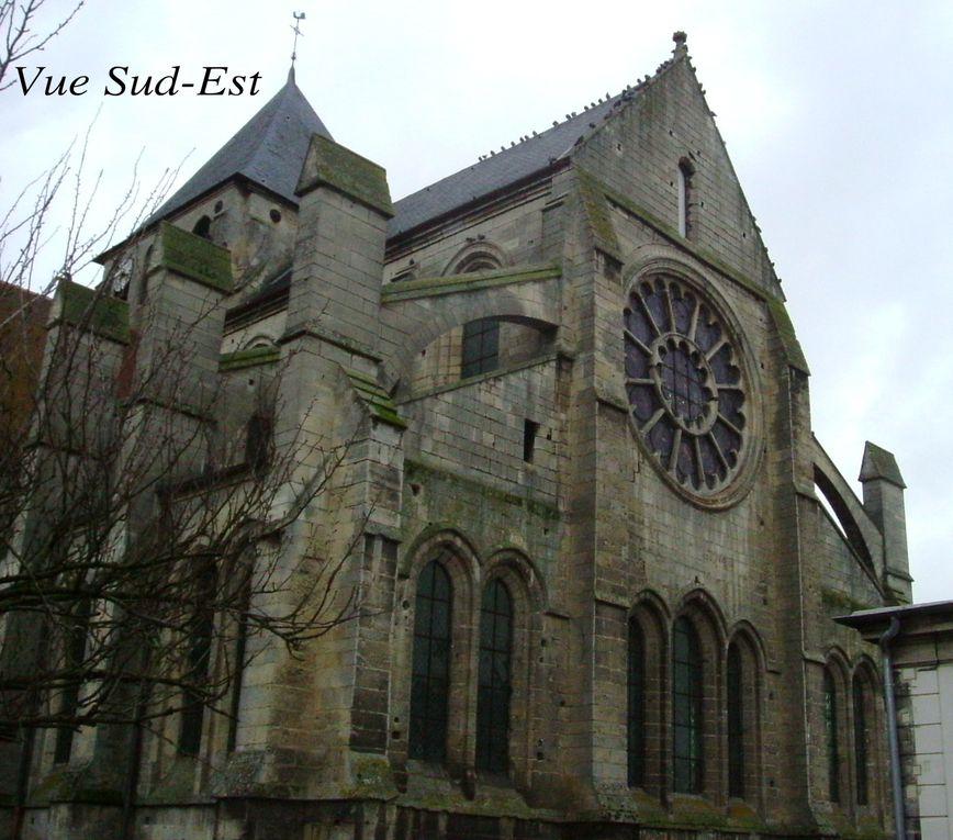Un des quatre Monuments Historiques hors ville haute de Laon. Eglise ancienne, style roman et gothique.