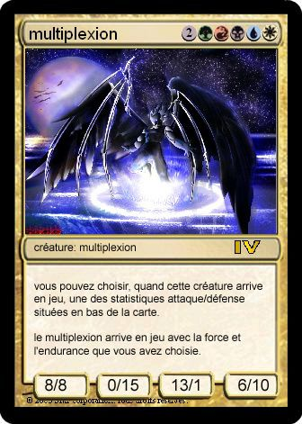 "Des ""funcards"" Magic que j'ai créé avec le logciel SMF Funcard Maker"
