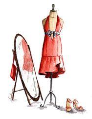idee de robe de soirée, etcque j'ai dessiner via un logiciel