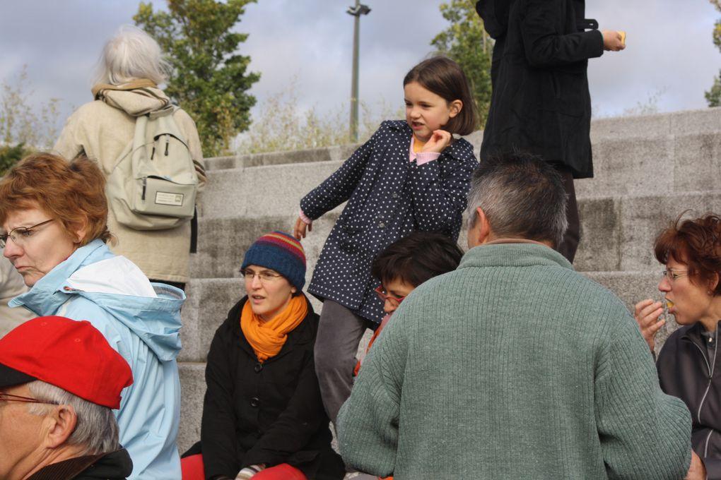 Vues de la balade chantée organisé autour du site de la Carrière, que beacoup d'entre nous ont découvert comme ils ne l'avaient jamais vu. (Organisation ACB, Dastum 44, Onyx La Carrière).