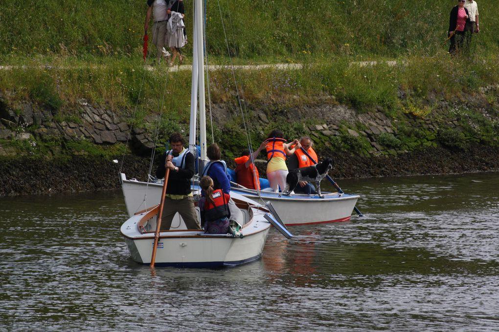 Photos prises le 16 juin 2013 à Vannes, dans le chenal de la Rabine, à l'occasion d'une inoubliable compétition de godille.