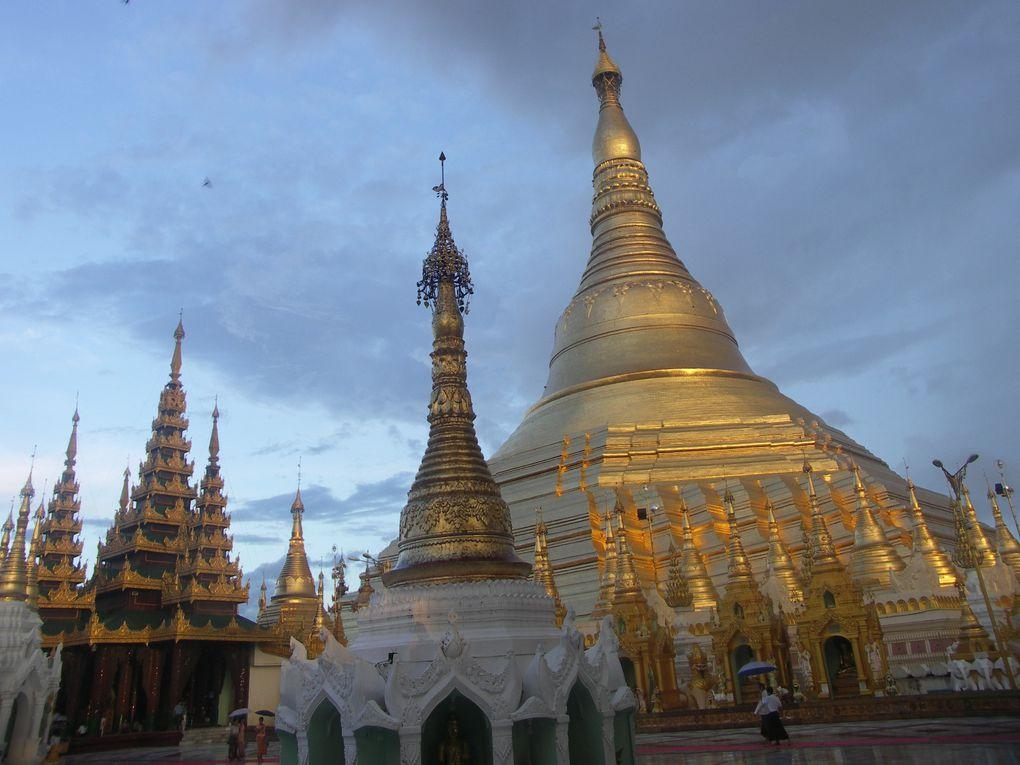 La pagode Shwedagon, le haut lieu du bouddhisme à ne pas manquer à Yangon, aussi bien au lever du jour, sous la pluie ou la nuit.