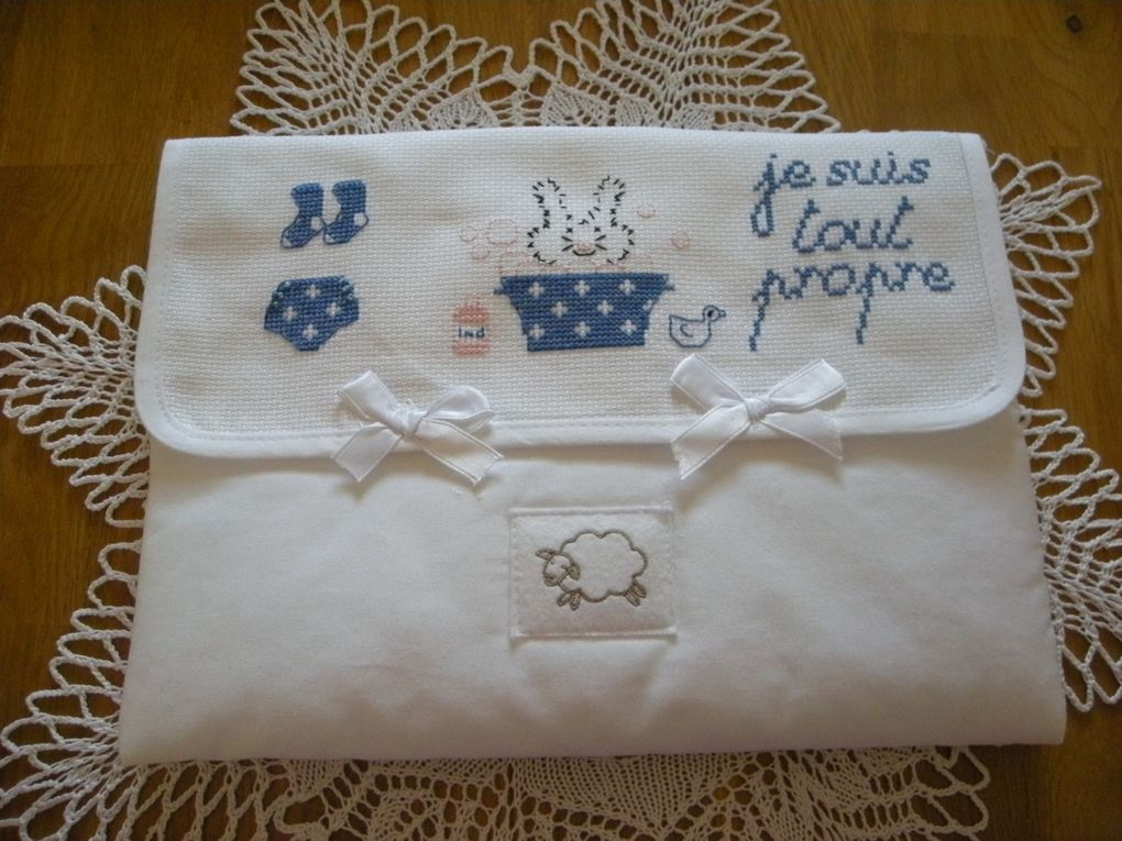 Broderie aux point comptes