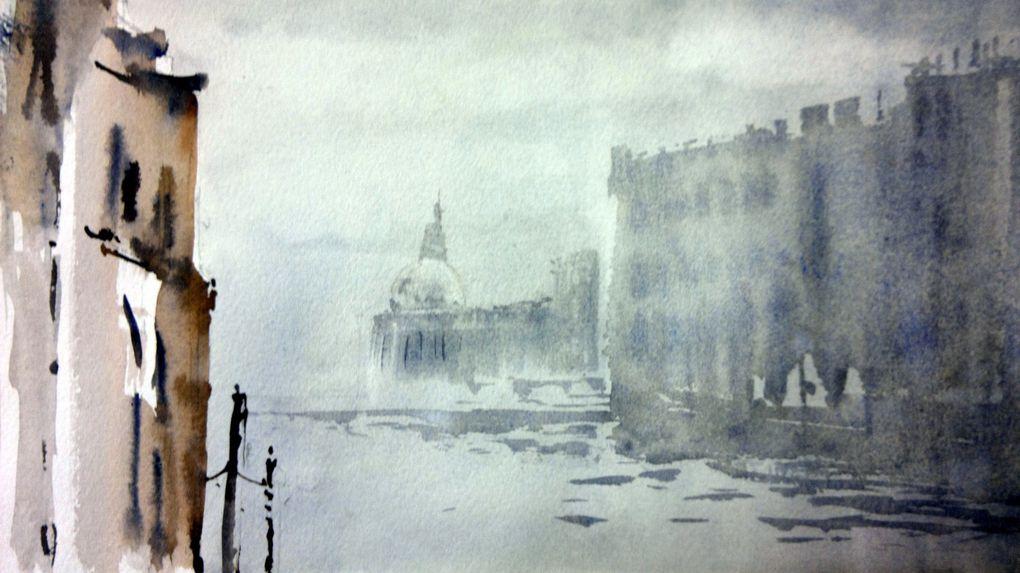 paysage anglais ,aquarelle dominique Gioan