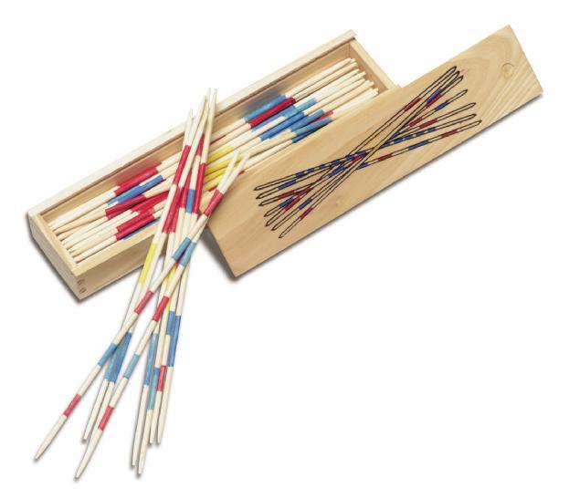 crayons de couleur, corde à sauter, jeu d'eau, jeu de patience