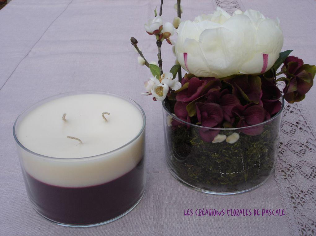 Bougies et fleurs d'illusion. Idées cadeaux